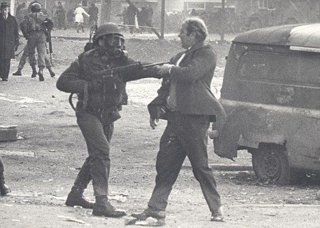13 unarmed protestors were murdered by British paratroopers on 30 January 1972. The British government would not admit Bloody Sunday as unlawful until 2010.